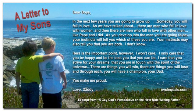A Letter to My Boys....