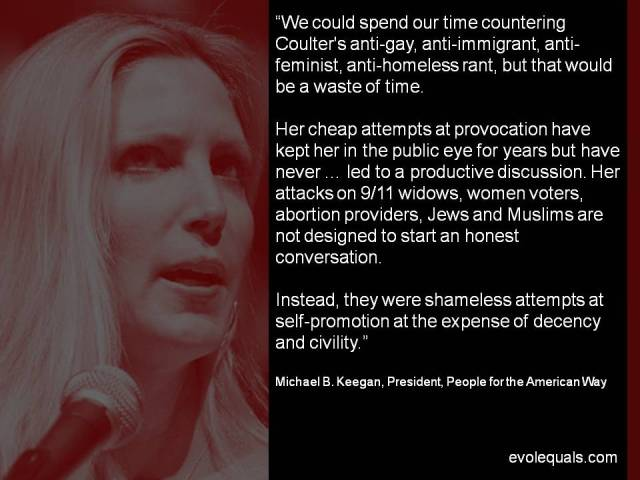 The Waste of Time named Ann Coulter