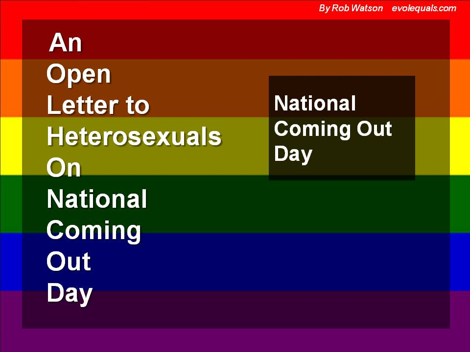 An Open Letter to My Heterosexual Family and Friends on ...