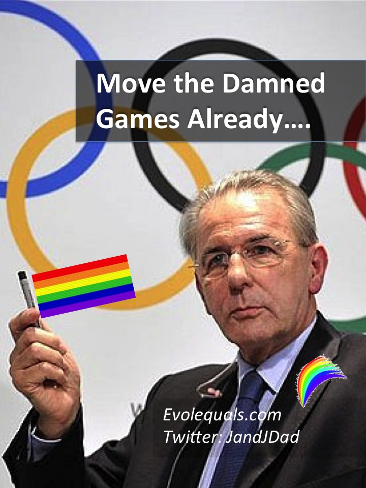 A Gay Dad's Open Letter to the International Olympic Committee: Move the Damned Games Already