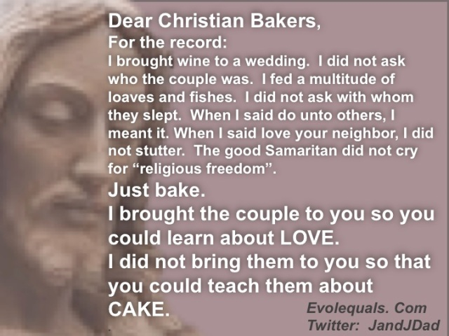 Dear Christian Bakers