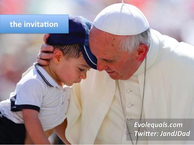 pope F dinner invite evol